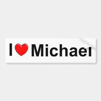 I Love (Heart) Michael Car Bumper Sticker