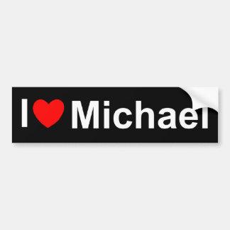 I Love (Heart) Michael Bumper Sticker