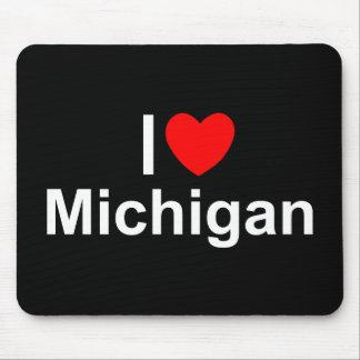 I Love (Heart) Michigan Mouse Pad