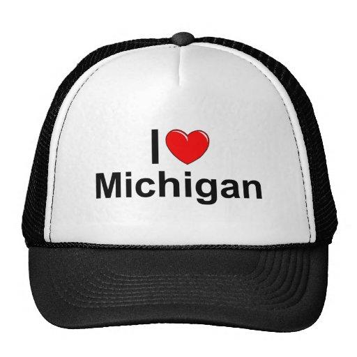 I Love (Heart) Michigan Trucker Hat