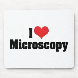 I Love Heart Microscopy Mouse Pad