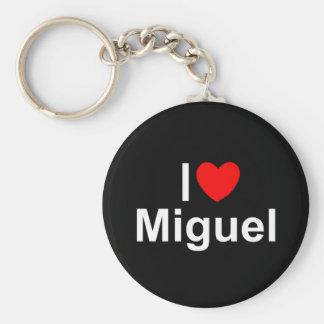 I Love (Heart) Miguel Basic Round Button Keychain
