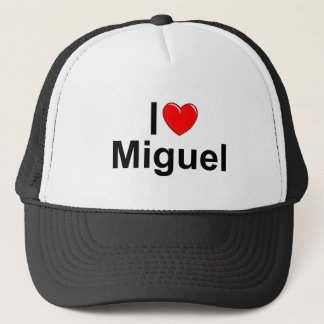 I Love (Heart) Miguel Trucker Hat