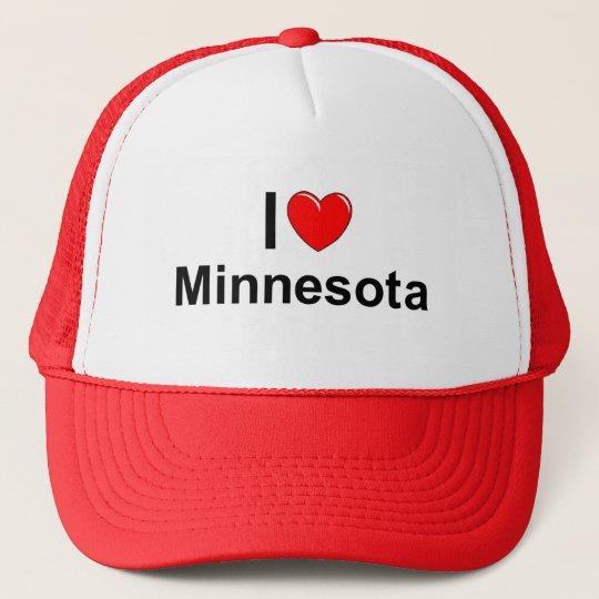 I Love (Heart) Minnesota Trucker Hat