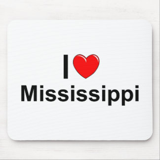 I Love (Heart) Mississippi Mouse Pad