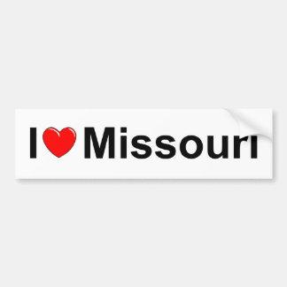 I Love (Heart) Missouri Car Bumper Sticker