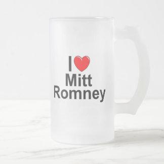 I Love (Heart) Mitt Romney 16 Oz Frosted Glass Beer Mug