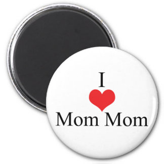 I Love (Heart) MomMom 2 Inch Round Magnet