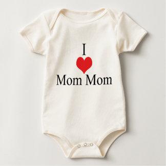 I Love (Heart) MomMom Baby Bodysuit