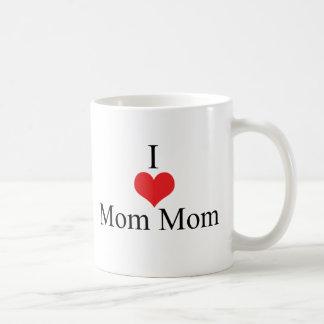 I Love (Heart) MomMom Classic White Coffee Mug