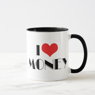 I Love Heart Money - Business Entrepreneur Mug