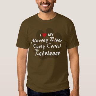 I Love(Heart) Murray River Curly Coated Retriever Tees