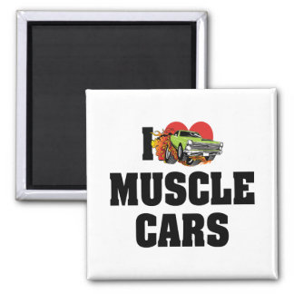 I Love Heart Muscle Cars - Muscle Car Lover Magnet