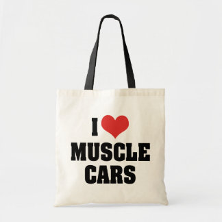 I Love Heart Muscle Cars - Muscle Car Lover Tote Bag