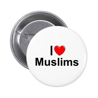I Love (Heart) Muslims 2 Inch Round Button