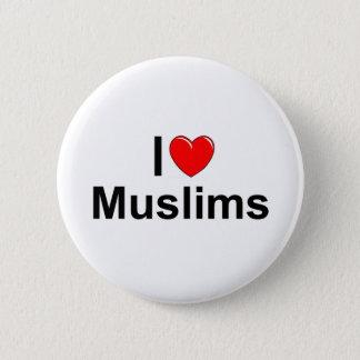 I Love (Heart) Muslims Button
