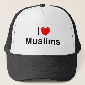 I Love (Heart) Muslims Trucker Hat