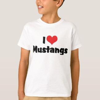 I Love Heart Mustangs - Horse Lover T-Shirt
