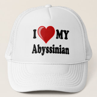 I Love (Heart) My Abyssinian Cat Trucker Hat
