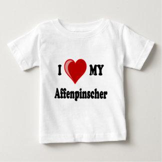 I Love (Heart) My Affenpinscher Dog Baby T-Shirt