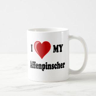 I Love (Heart) My Affenpinscher Dog Classic White Coffee Mug
