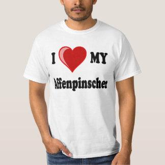 I Love (Heart) My Affenpinscher Dog T-Shirt
