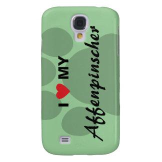 I Love (Heart) My Affenpinscher Paw Print Samsung Galaxy S4 Cover