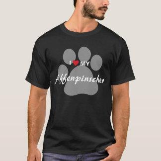 I Love (Heart) My Affenpinscher Paw Print T-Shirt