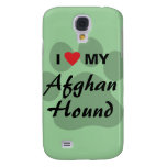 I Love (Heart) My Afghan Hound Samsung Galaxy S4 Case