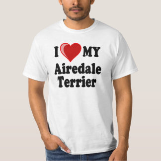 I Love (Heart) My Airedale Terrier Dog T-Shirt