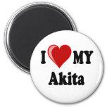 I Love (Heart) My Akita Dog Magnet