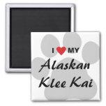 I Love (Heart) My Alaskan Klee Kai Magnet