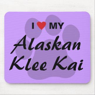 I Love (Heart) My Alaskan Klee Kai Mouse Pad