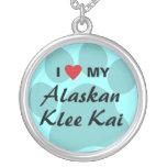 I Love (Heart) My Alaskan Klee Kai Necklaces