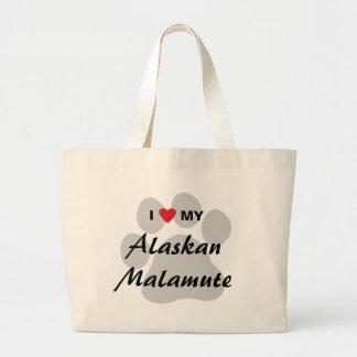 I Love (Heart) My Alaskan Malamute Bag