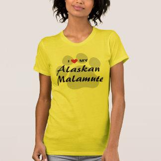 I Love (Heart) My Alaskan Malamute Shirts