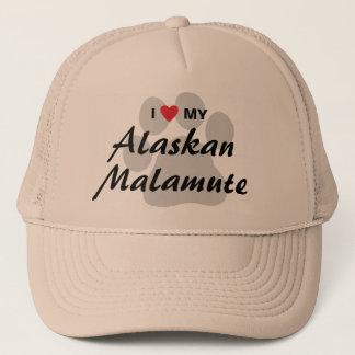 I Love (Heart) My Alaskan Malamute Trucker Hat