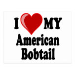 I Love (Heart) My American Bobtail Cat Post Cards
