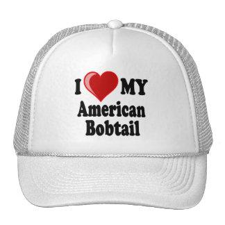 I Love (Heart) My American Bobtail Cat Trucker Hat
