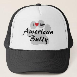 I Love (Heart) My American Bully Trucker Hat