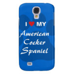 I Love (Heart) My American Cocker Spaniel Samsung Galaxy S4 Cover
