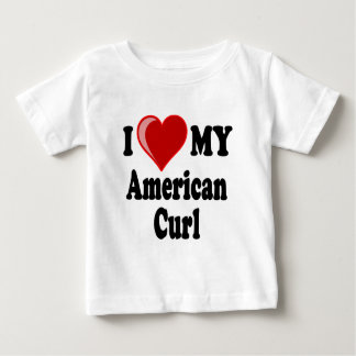 I Love (Heart) My American Curl Cat Baby T-Shirt