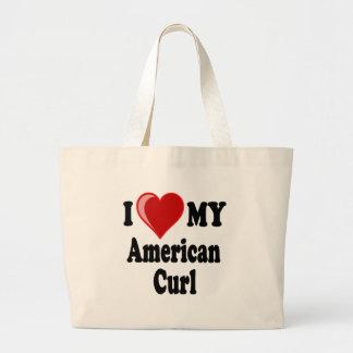 I Love (Heart) My American Curl Cat Bag