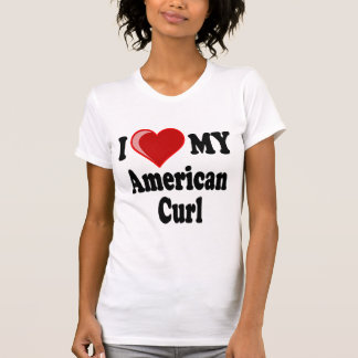 I Love (Heart) My American Curl Cat Tank Tops