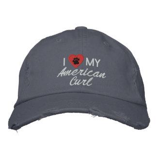 I Love (Heart) My American Curl Embroidered Baseball Cap