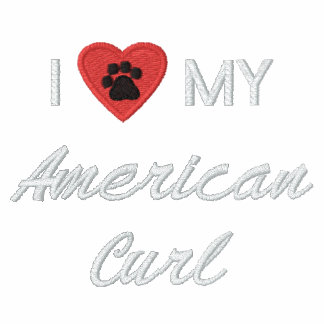 I Love (Heart) My American Curl Pawprint