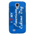 I Love (Heart) My American Eskimo Dog Galaxy S4 Cover