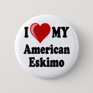 I Love (Heart) My American Eskimo Dog Pinback Button