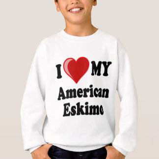 I Love (Heart) My American Eskimo Dog Sweatshirt