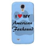 I Love (Heart) My American Foxhound Galaxy S4 Case